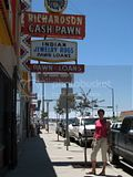 In Gallup New Mexico at the pawnbroker's store